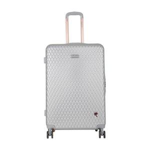 Světle šedý cestovní kufr LULU CASTAGNETTE Rachel, 107l