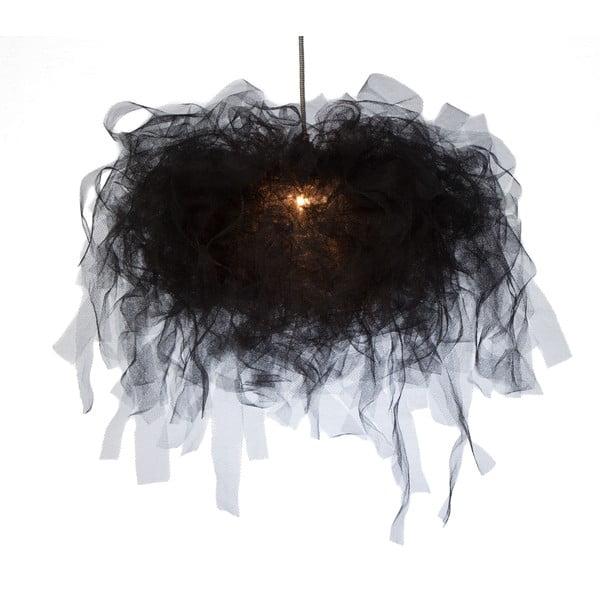 Stropní světlo Ellen Munter vel. S, černé s černým kabelem