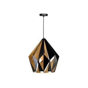 Závěsné svítidlo ve zlaté a černé barvě ETH Rhomb