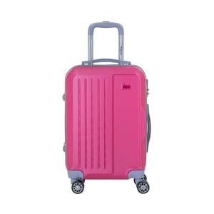 Růžový cestovní kufr na kolečkách s kódovým zámkem SINEQUANONE Iskra, 44l