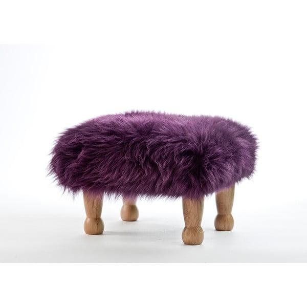 Stolička z ovčí kůže Angharad Aubergine