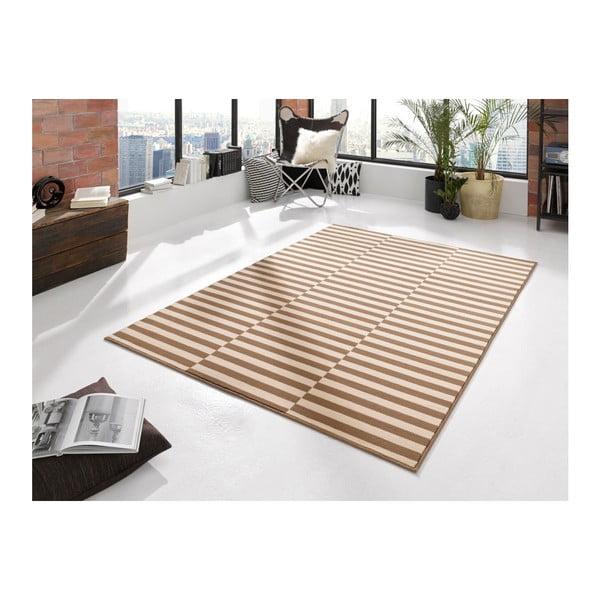 Béžovobílý koberec Hanse Home Gloria Panel, 120x170cm