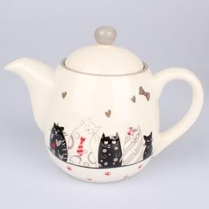 Keramická konvice na čaj Dakls Cats, 1 l