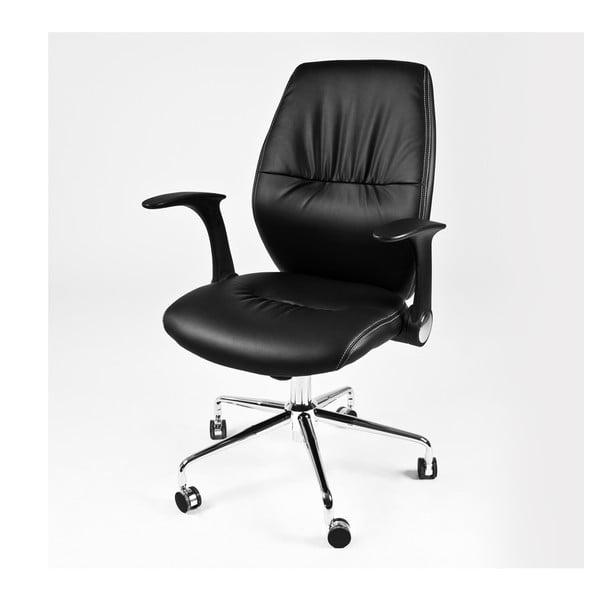 Pracovní židle na kolečkách Icaro, černá