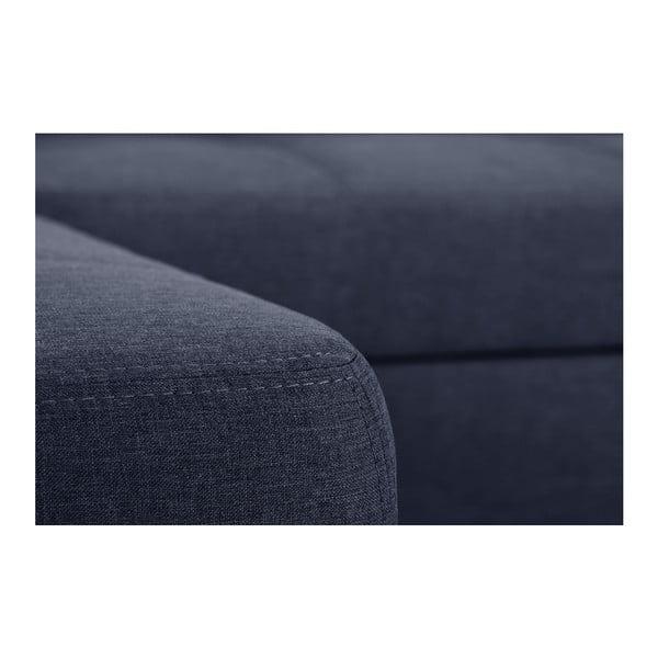 Modrá rozkládací pohovka Modernist Pashmina, levý roh