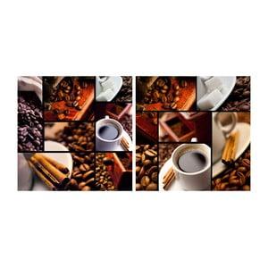 Set obrazů na skle Káva, 30x30 cm, 2 ks