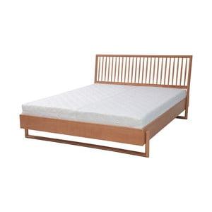 Dvoulůžková postel z dubového dřeva Ragaba Diamond, 160x200cm