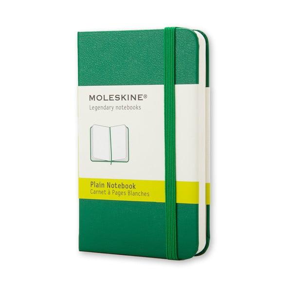 Zelený minizápisník Moleskine, nelinkovaný