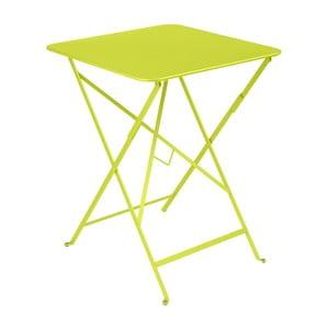 Světle zelený zahradní stolek Fermob Bistro, 57 x 57 cm