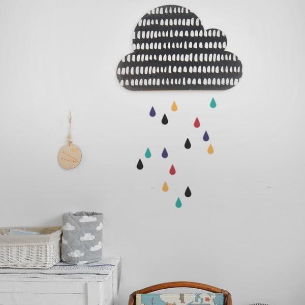 Avizier autoadeziv Dekornik Black Cloud With Colorful Drops