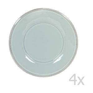 Sada 4 dezertních talířů Constance Sea Green, 23.5 cm