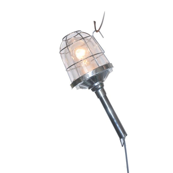 Přenosná lampa Faro, chrom