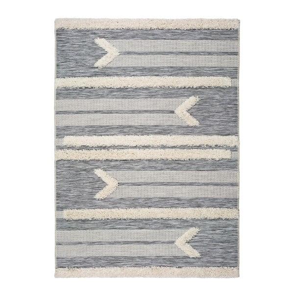 Bílo-šedý koberec Universal Cheroky Line, 55 x 110 cm