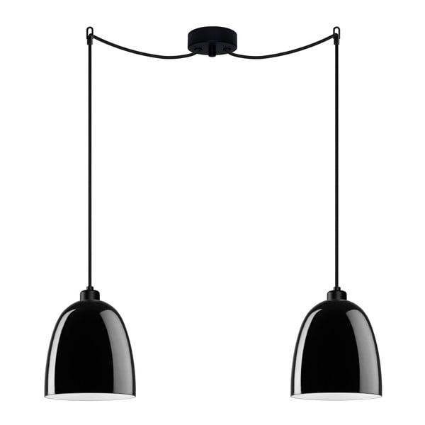 Černé dvojité závěsné svítidlo Sotto Luce AWA Elementary 2S Glossy