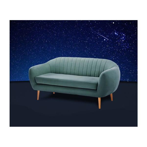 Canapea pentru 3 persoane Scandi by Stella Cadente Maison Comete, turcoaz