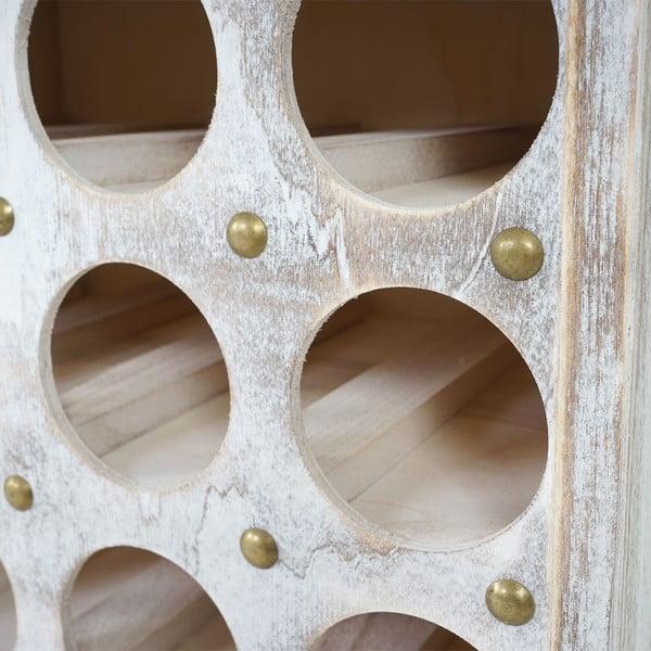Bílý dřevěný stojan na 12 lahví vína Mendler Shabby