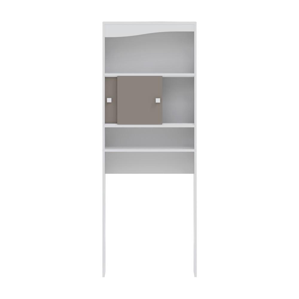 Šedohnědá koupelnová skříňka nad pračku Symbiosis André, šířka 60 cm