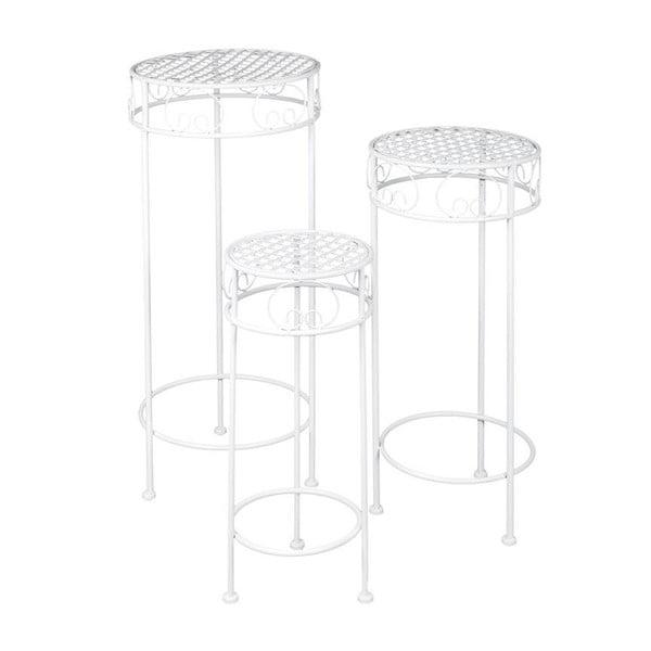 Set 3 kovových stolků Romantic