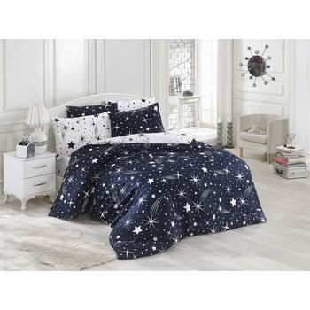 Lenjerie de pat cu cearșaf Night Muse, 200 x 220 cm de la Eponj Home