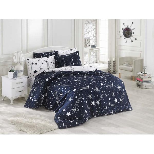 Lenjerie de pat cu cearșaf Night Muse, 200 x 220 cm
