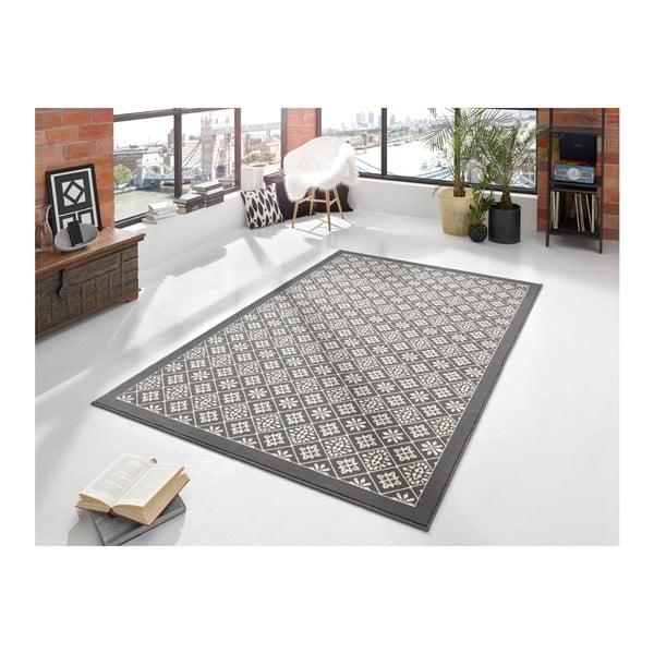 Šedobílý koberec Hanse Home Gloria Tile, 80x150cm