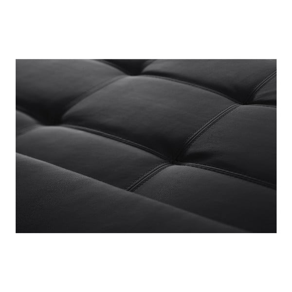 Černá pohovka Modernist Symbole, pravý roh