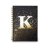 Zápisník Tri-Coastal Design Spiral K, 120 stran