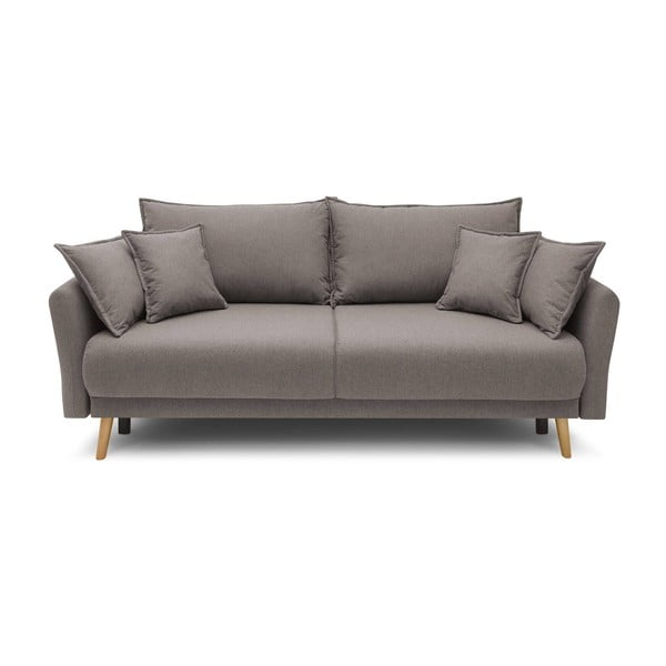 Ciemnobeżowa rozkładana sofa Bobochic Paris Mia