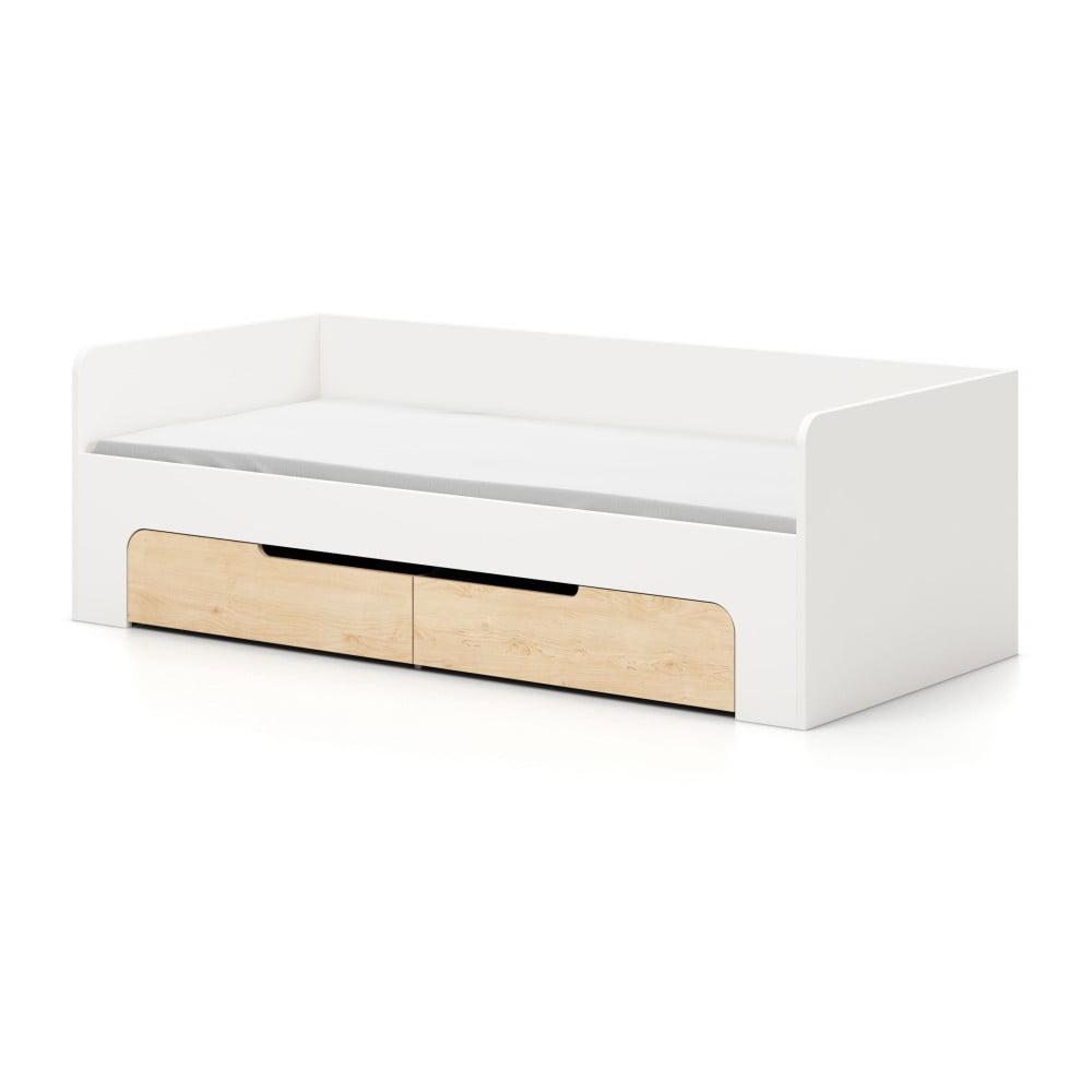 Bílá jednolůžková postel Devoto Nimbo, 90 x 200 cm