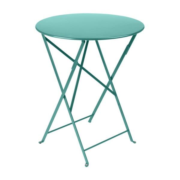 Modrý zahradní stolek Fermob Bistro, ⌀ 60 cm