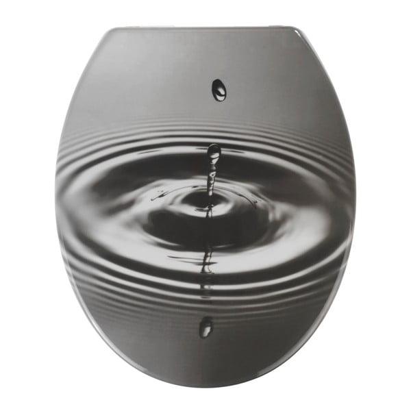 Waterdrop WC-ülőke, 44,5 x 36,5 cm - Wenko