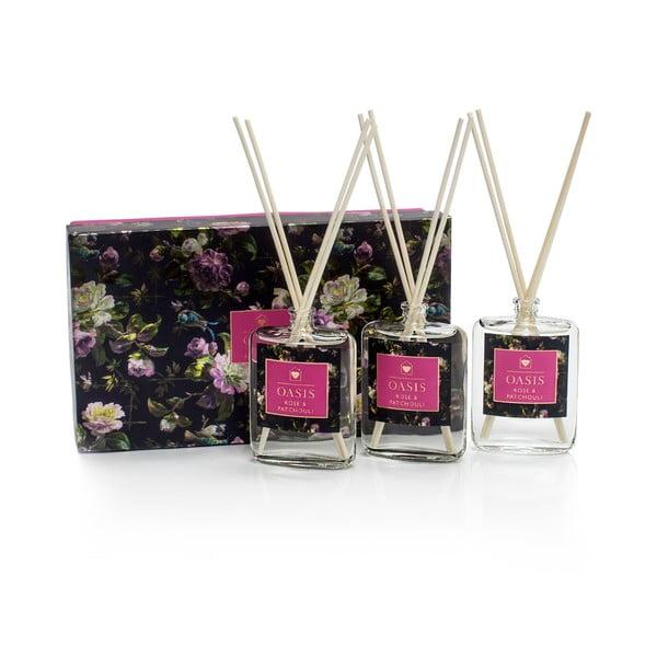 Oasis Renaissance rózsa és pacsuli illatú aromadiffúzor, 3 db - Bahoma London