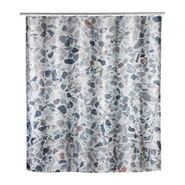 Prateľný sprchový záves Wenko Terrazzo, 180 x 200 cm