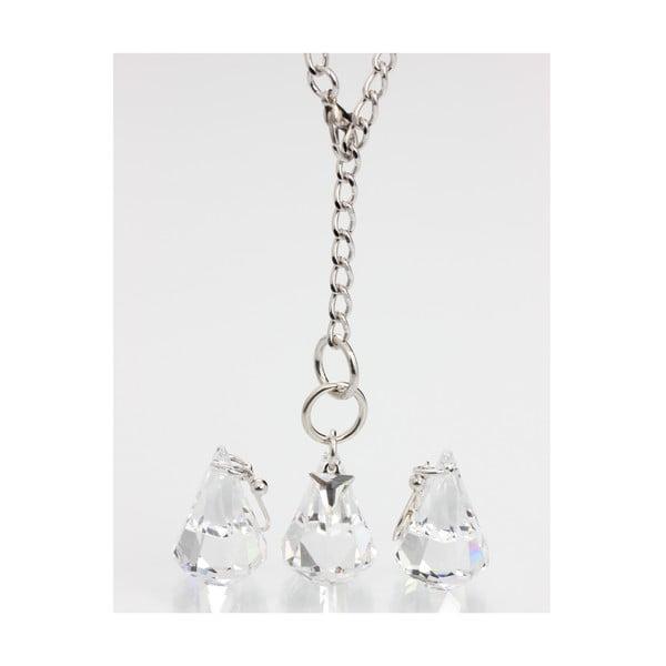 Set náušnice a náhrdelníku Laura Bruni Drops Clear