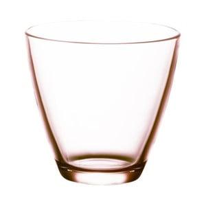 Sada 6 růžových sklenic na vodu Bitz Fluidum, 260 ml