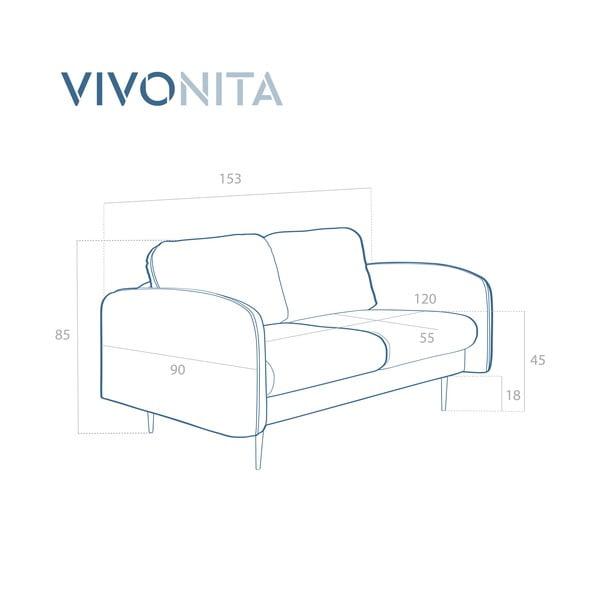 Fialová 2místná sedačka Vivonita Skolm
