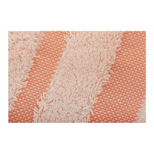 Sada světle oranžového ručníku a osušky Serit