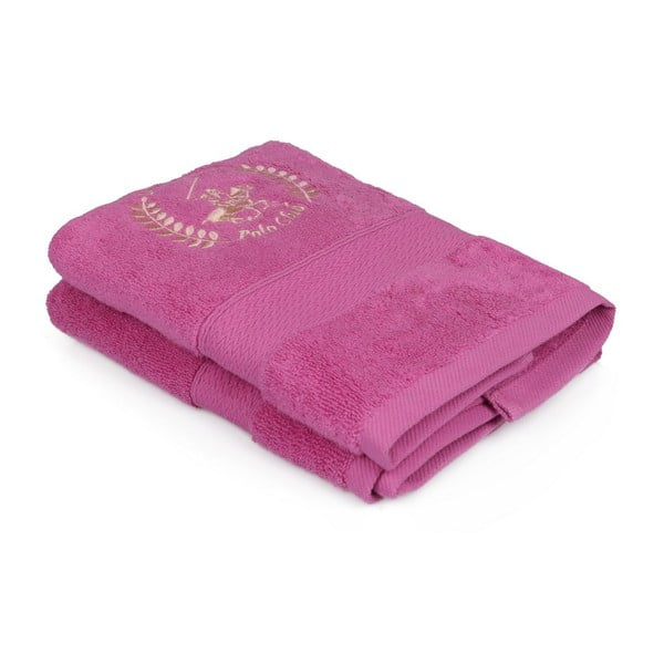 Sada dvou růžových ručníků Beverly Hills Polo Club, 70x45cm