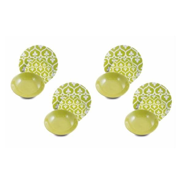 Sada porcelánových talířů Mandala Verde, 12 ks