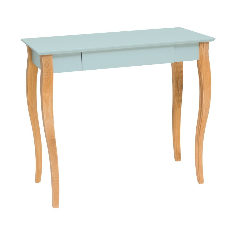 Světle tyrkysový psací stůl Ragaba Lillo, délka 85 cm