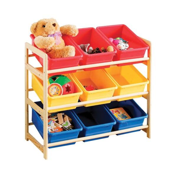 Police s úložnými košíky Colorful