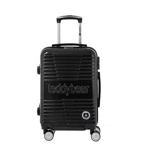 Černý cestovní kufr na kolečkách s kódovým zámkem Teddy Bear Varvara, 44 l