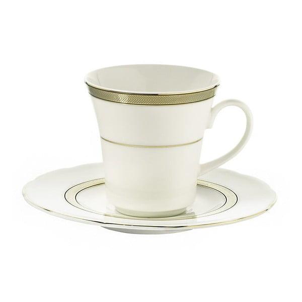 Zestaw 6 filiżanek porcelanowych ze spodkami Kutahya Pipes, 50 ml