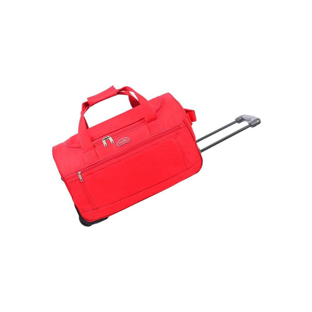 Červená cestovní taška na kolečkách Hero, 43 l