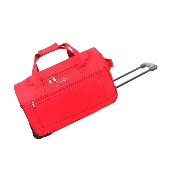 Červená cestovná taška nakolieskach Hero Marion, 43l