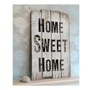 Dřevěná cedule Home sweet home 30x45 cm