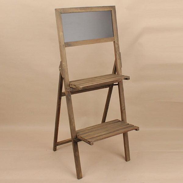 Dřevěný stojan s tabulí Dakls, hnědý