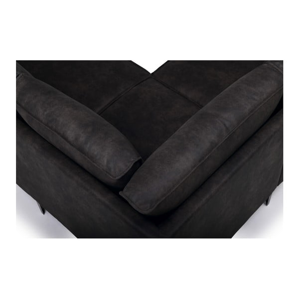 Canapea pe colț Softnord Copenhagen, pe partea stângă, gri antracit