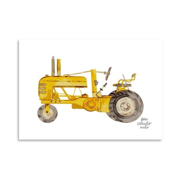 Autorský plakát Tractor, 30x42 cm