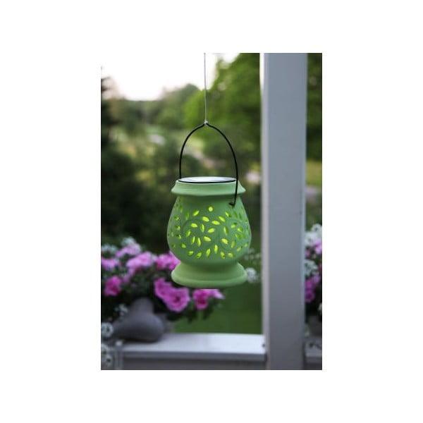 Zelená venkovní LED lucerna Best Season Clay Green